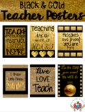 Teacher Quotes Posters Gold and Black