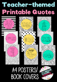 Teacher Quotes - Printable Posters/Book Covers