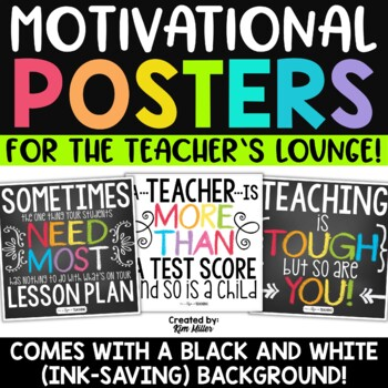 teacher quotes and motivational posters classroom decor by kim miller