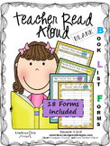 Teacher Read Aloud Blank Book List Forms