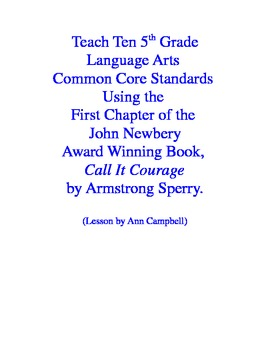 Teacher Read-Aloud of First Chapter of Call It Courage to Practice CCSS