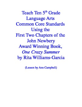 Teacher Read-Aloud of Two Chapters of One Crazy Summer Using CCSS