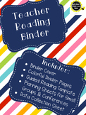 Teacher Reading Binder *Guided Reading *Small Groups *Read
