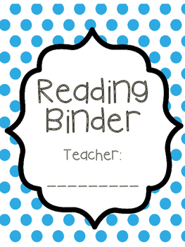 Teacher Reading Binder with Data Tracking Resources