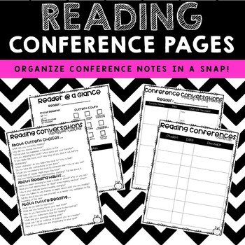 Teacher Reading Conference Sheets {plus Editable Quick Checks!}