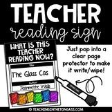 Teacher Reading Sign