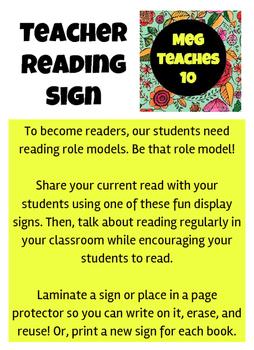 Teacher Reading Signs