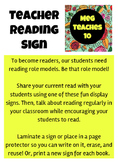 Teacher Reading Signs