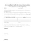 Teacher Recommendation Form & Help