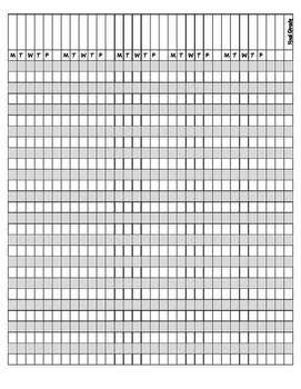 Jubilee's Junction - Teacher Records: Printable Grade Sheet GRADE BOOK