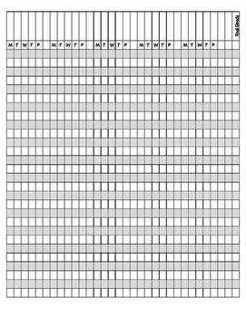 Jubilee's Junction - Teacher Records: Printable Grade Sheet GRADE BOOK