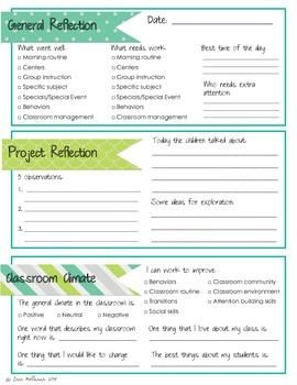 Teacher Reflection Checklist - for use with the Project Approach