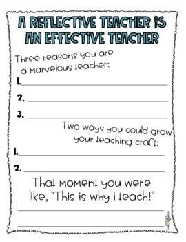 Teacher Reflection Form
