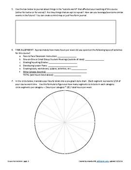 Teacher Reflection Worksheet:  Course Post Mortem