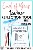 Teacher Reflection and Planning Tool Beginning of Year End of Year