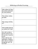 Teacher Reflection on Student Work