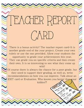 Teacher Report Card