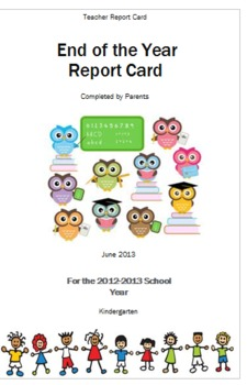 Teacher Report Card for Parents