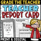 Teacher Report Card End-of-Year Activity {Grade the Teacher!}