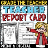 Teacher Report Card End-of-Year Activity | Grade the Teacher!