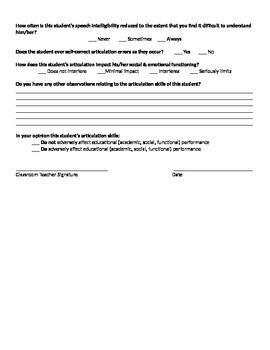 Teacher Reporting Forms