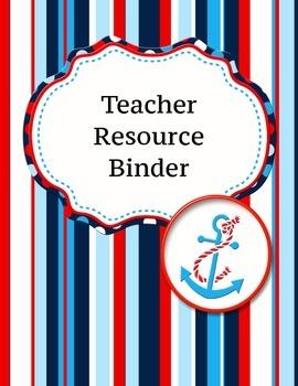 Teacher Resource Binder
