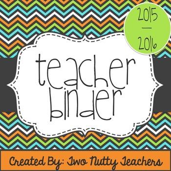 Editable Teacher Resource Binder: Orange, Lime, Teal