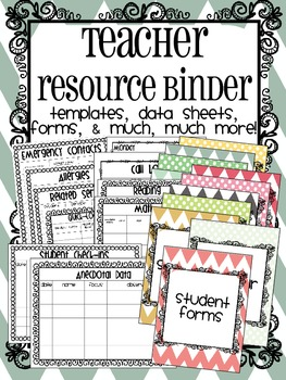 Teacher Organization Resource Binder