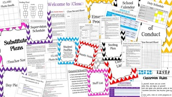 Teacher Resource Binder for Substitute Teachers with Example Lesson Plans