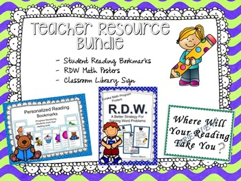 #happylaborday RDW Posters, Reading Bookmarks and Library Sign
