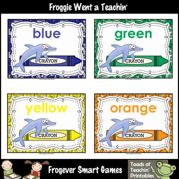 Teacher Resource--Colors are Fintastic Color Posters (Dolphins)