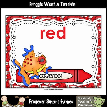 Teacher Resource--Colors are Fintastic Color Posters (Fish)