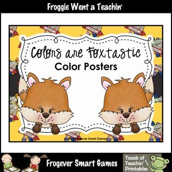 Teacher Resource--Colors are Foxtastic Color Posters