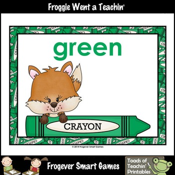 Teacher Resource--Colors are Foxtastic Color Posters