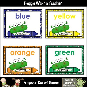 Teacher Resource--Colors are Frogtastic Color Posters