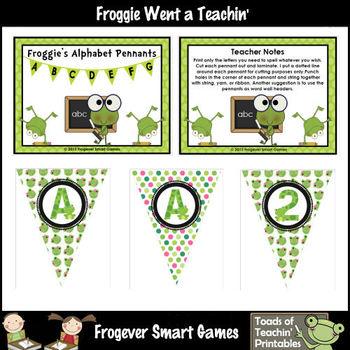 Teacher Resource -- Frog Pennants Set II