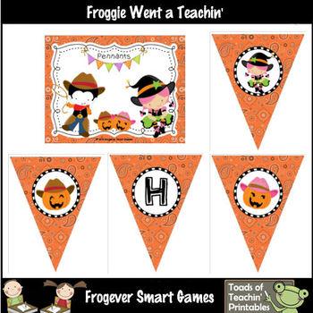 Teacher Resource--Halloween Hoe Down Pennants