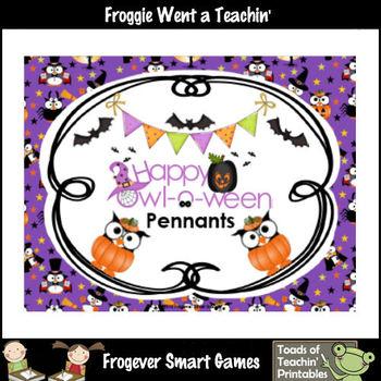 Teacher Resource--Happy Owl-o-ween Pennants