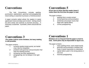 Teacher Resource: Hookups for Six Traits    Grades 5 - 12