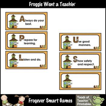 Teacher Resource--Koalas Down Under Class Rules (APLUS & KOALA)