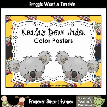 Teacher Resource--Koalas Down Under Color Posters
