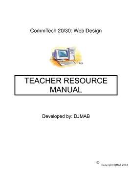 Teacher Resource Manual for Teaching Web Design