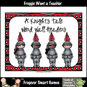 Teacher Resource--Melonheadz Graphics A Knights Tale Word Wall Headers