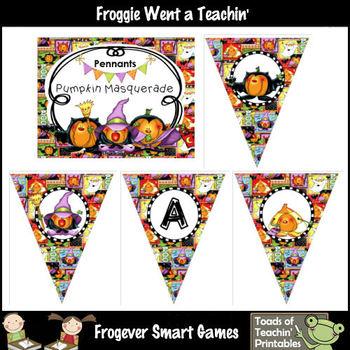 Teacher Resource--Pumpkin Masquerade Pennants