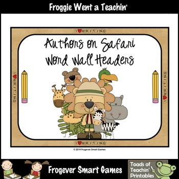 Teacher Resource--Scrappin Doodles Graphics Authors On Safari Word Wall Headers