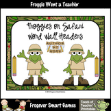 Teacher Resource--Scrappin Doodles Graphics Froggies on Safari Word Wall Headers