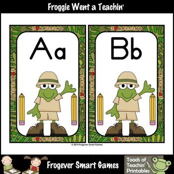 Teacher Resource--Scrappin Doodles Graphics Froggies on Safari Word Wall Headers