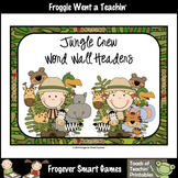 Teacher Resource Scrappin Doodles Graphics Jungle Crew Word Wall Headers