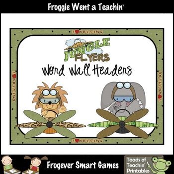 Teacher Resource--Scrappin Doodles Graphics Jungle Flyers Word Wall Headers