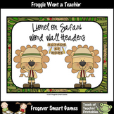 Teacher Resource--Scrappin Doodles Graphics Lionel on Safari Word Wall Headers